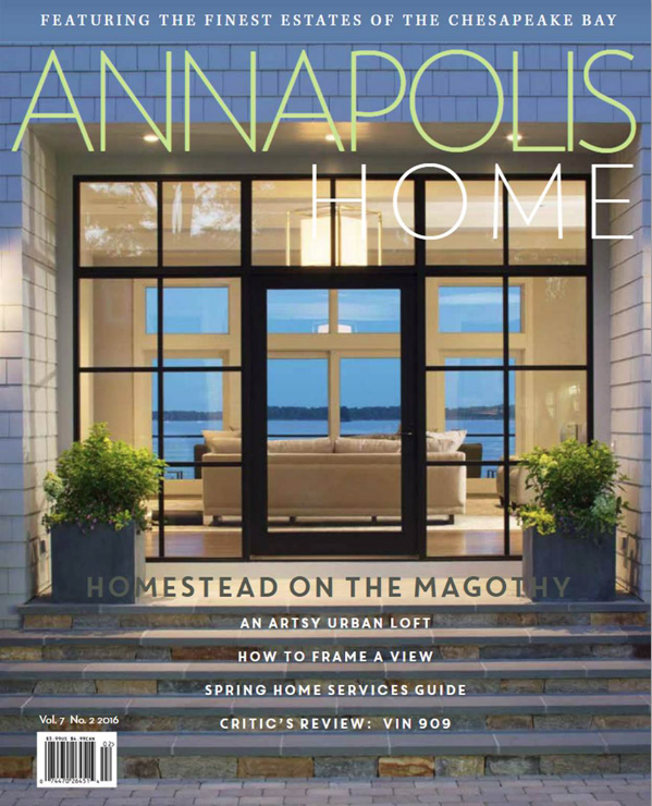 Annapolis Home magazine cover featuring Broadwater I